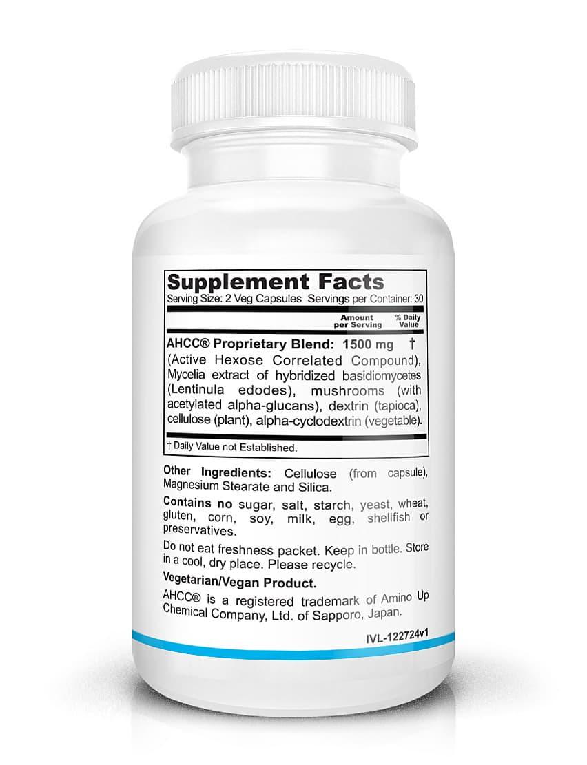 AHCC Supplement Facts