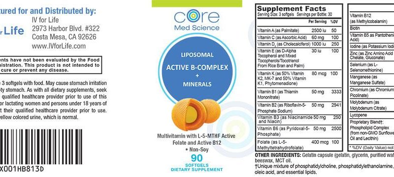 Liposomal Multivitamin with Active B-Complex, Minerals and Antioxidants